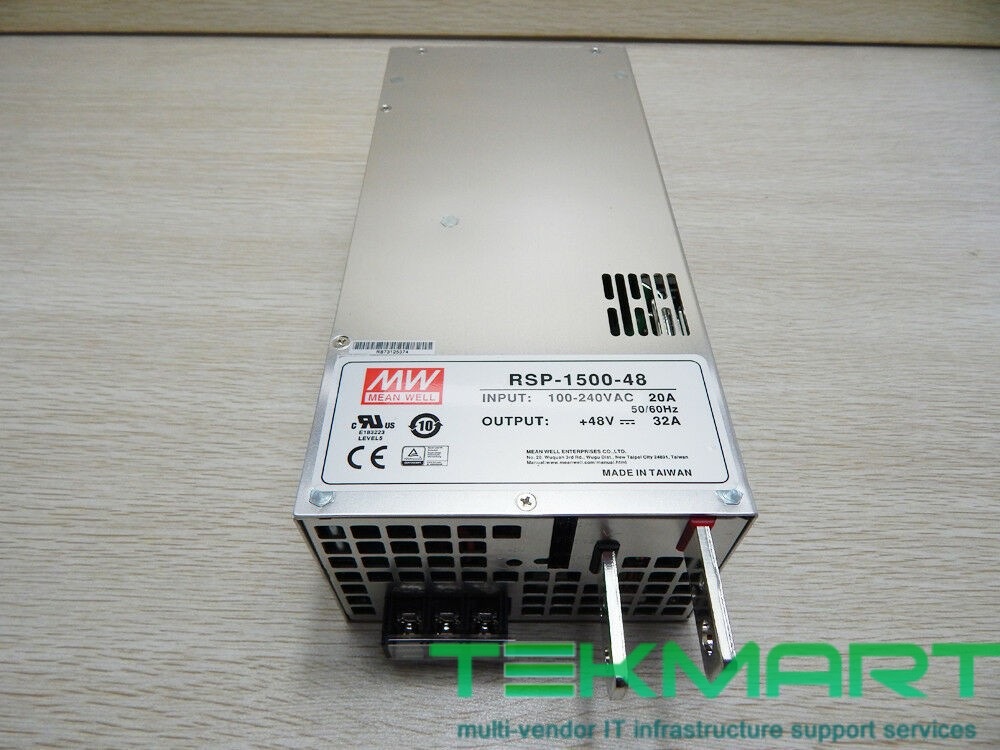 RSP-1500-48 Series 1500W Parallel Output PFC Function PSU